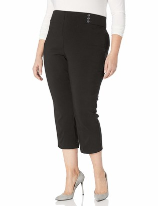 Rafaella Women's Plus Size Supreme Stretch Capri