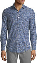 Original Penguin Splatter-Print Oxford Sport Shirt