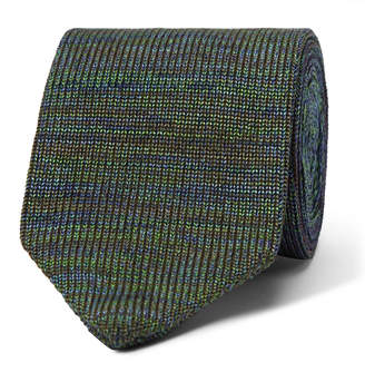 Missoni Space-Dyed Cotton And Silk-Blend Tie