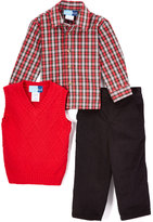 Good Lad Red Cable Sweater Vest Set - Toddler & Boys