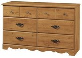 South Shore Furniture Prairie Collection, Double Dresser, Country Pine