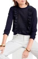 J.Crew Women's Lara Lace Bib Pullover