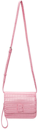 Balenciaga Pink Croc Small B. Bag