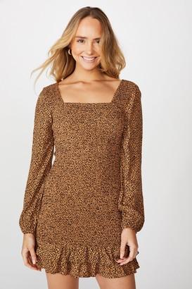 Supre Isla Frill Hem Shirred Dress