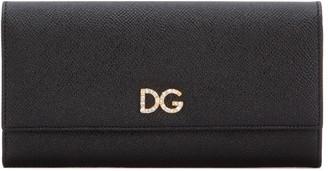 Dolce & Gabbana Embellished Logo Fold-over Wallet