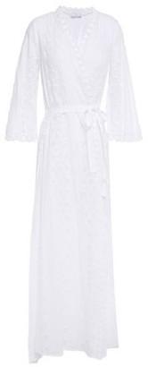 Miguelina Belted Macrame-paneled Cotton-gauze Cover-up