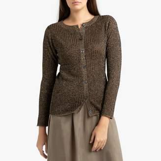 soeur GLAMOR Round Neck Cardigan in Iridescent Knit