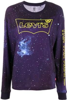 Levi's logo Star Wars long-sleeve top