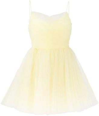 Brognano Wrap-Waist Tulle Mini Dress