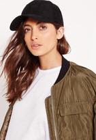 Missguided Faux Suede Baseball Cap Black