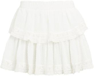 LoveShackFancy Ruffled Cotton Mini Skirt
