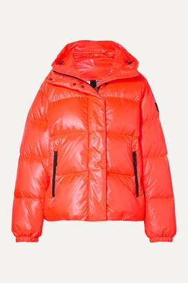 Bogner Fire & Ice Bogner BOGNER Ranja Oversized Cropped Hooded Quilted Down Ski Jacket - Orange