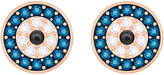 Swarovski Crystal Wishes Evil Eye Pierced Earrings, Multi-colored, Rose gold plating