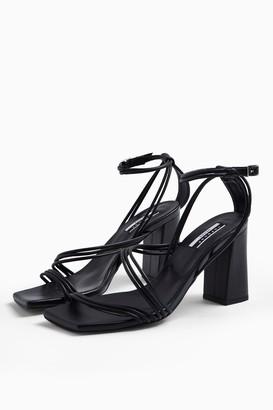 Topshop CONSIDERED VERA Vegan Black Sandals