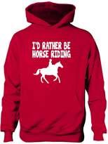 Print4U I'd Rather Be Horse Riding Boys Girls Hoodie 7-8
