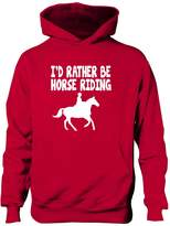 Print4U I'd Rather Be Horse Riding Boys Girls Hoodie 9-11