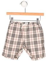 Burberry Boys' Nova Check Flat Front Shorts