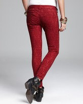 Free People Jeans - Vintage Jacquard Skinny in Cranberry