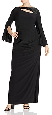 Adrianna Papell Embellished Cutout Gown