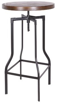 Williston Forge Ollis Adjustable Height Dining Table Frame Color: Matt Gunmetal, Seat Color: Natural