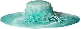 Scala Women's Solid Big Brim Sinamay Hat