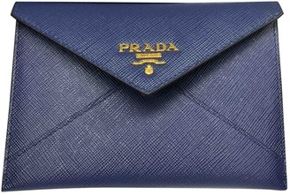 Prada Blue Leather Purses, wallets & cases