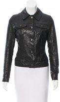 J Brand Collared Leather Jacket