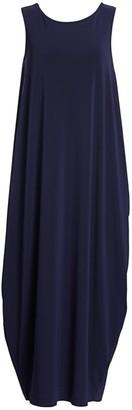 Issey Miyake Draped Jersey Midi Dress