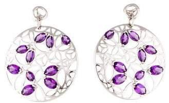 Di Modolo Amethyst Medallion Large Drop Earrings