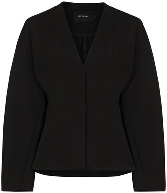 Low Classic Collarless Single-Breasted Jacket