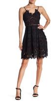 Romeo & Juliet Couture Woven Sleeveless Lace Mini Dress