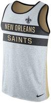 Nike Men's New Orleans Saints Stripe Tri Tank