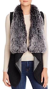 Sioni Shawl Vest with Faux-Fur Collar