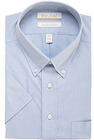 Roundtree & Yorke Gold Label Non-Iron Regular Full-Fit Short-Sleeve Button-Down Collar Dress Shirt
