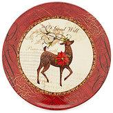 Certified International Winter Garden Reindeer Dinner Plate