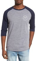 Brixton Men's 'Wheeler' Three-Quarter Raglan Baseball T-Shirt