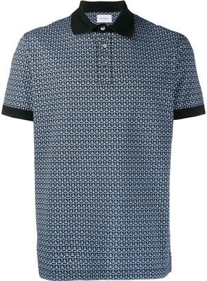 Salvatore Ferragamo geometric print polo shirt