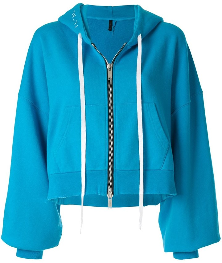 Thumbnail for your product : Unravel Project Hooded Bomber Jacket