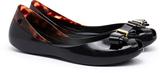 Melissa Queen Black Contrast Bow Flats