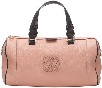 Loewe Pink Leather Boston Bag
