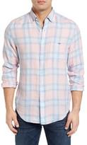Vineyard Vines Men's Russell Hill Tucker Classic Fit Linen Sport Shirt