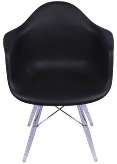 Joseph Allen Inspired Arm Chair Color: Black