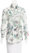 Just Cavalli Floral Button-Up Top