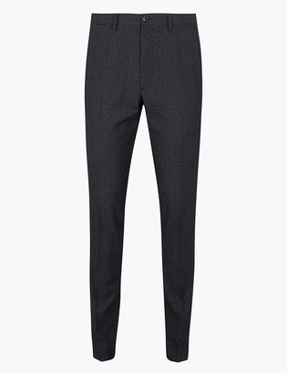 Marks and Spencer Skinny Fit Checked Trousers