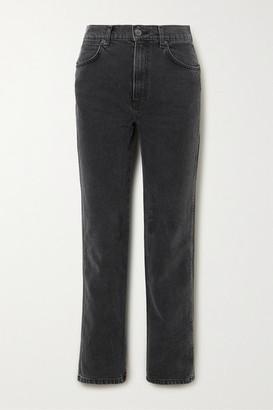 Reformation Net Sustain Star High-rise Straight-leg Jeans - Gray