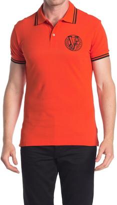 Versace Jeans Orange Logo Polo