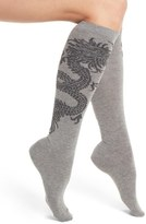 Natori Dragon Pattern Knee High Socks