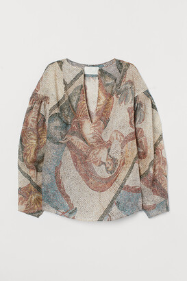 H&M Mosaic-patterned Blouse