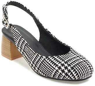 Butiti BUTITI Women's Sandals black - Black Houndstooth Slingback - Women