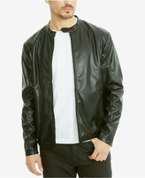 Kenneth Cole Reaction Men's Rocco Faux-Leather Bomber Jacket